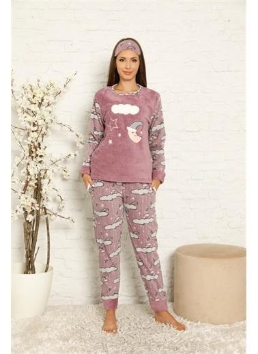 Akbeniz Pijama Takım Mürdüm